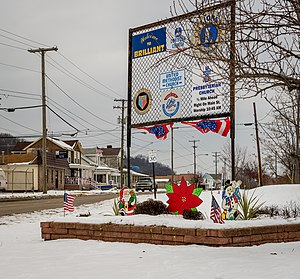 Brilliant, Ohio - Brilliant's welcome sign