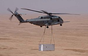 HMH-465 - HMH-465 CH-53E doing an external lift in Iraq