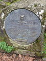 Simon Benson plaque at Wahkeena Falls, Oregon.JPG