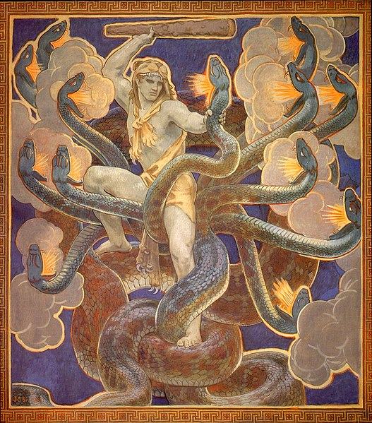 Hercules and the Hydra by John Singer Sargent - click to view on Wikipedia