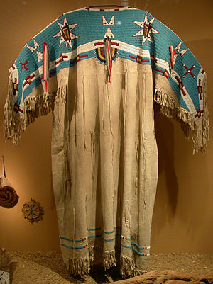 Original Apache Girl39s Ceremonial Two Piece Puberty Dress 20th C Composed Of
