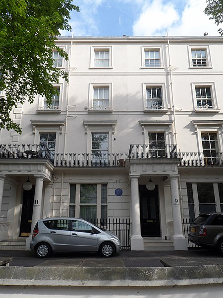 File:Sir AMBROSE FLEMING - 9 Clifton Gardens Maida Vale London W9 1AL.jpg