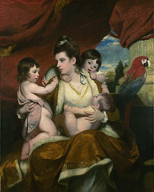 Sibling - Portrait of Lady Cockburn and her Three Eldest Sons, by Joshua Reynolds