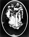 Sisters Nora Oo-teen'a and Ongnoluk, wearing decorated fur parkas, Kingegan, Cape Prince of Wales, Alaska, between 1901 and 1906 (AL+CA 1608).jpg