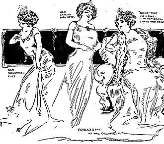 Luisa Tetrazzini - Sketches by Marguerite Martyn, 1910