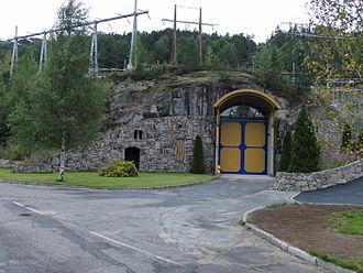 Åseral - Entrance to the Skjerka power station