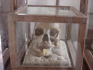 Chief Mkwawa - Skull on display at the Mkwawa Memorial Museum
