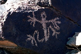 Sloan Canyon National Conservation Area - Petroglyph in Sloan Canyon