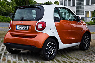 Smart Fortwo - Rear end of 3rd generation Fortwo