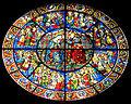 Smn, rosone con vetrata dell'incoronazione, su disegno di andrea bonaiuti, 1365, 02.jpg