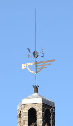 "Timberline Lodge - Bronze ""snow goose"" weather vane above the head house"