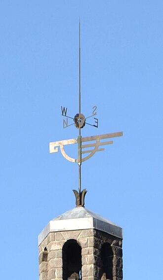 "Timberline Lodge - Bronze ""snow goose"" weather vane above the head house"