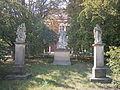 Sochy - soubor soch sv. Floriána, sv. Jana Nepomuckého, sv. Kajetána (Pozořice), náves, Pozořice.jpg