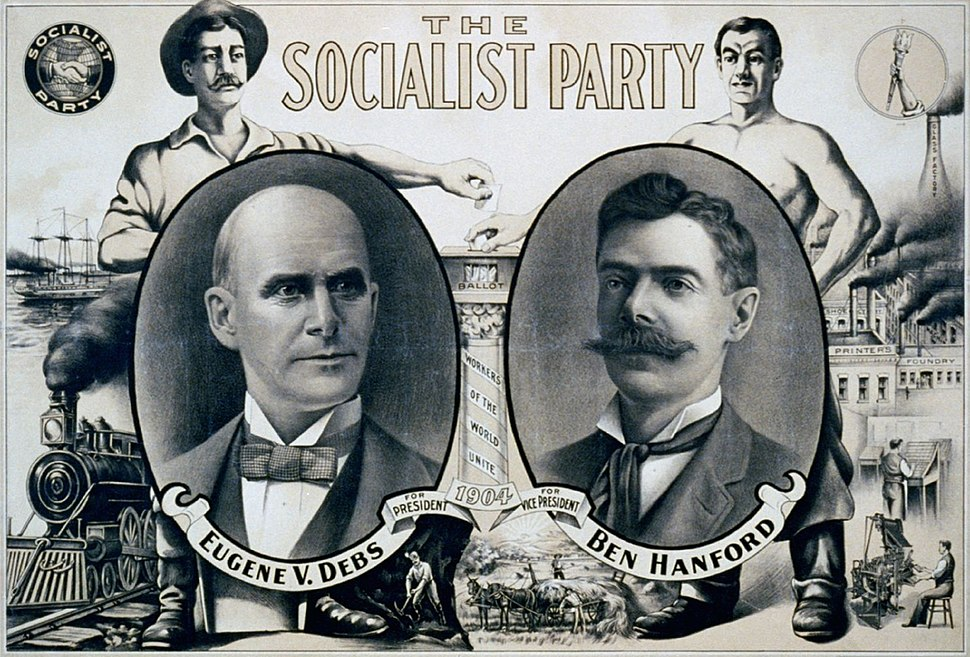 Socialist Party Eugene Debs 1904 campaign poster