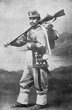 Battle of Tacna - Bolivian Colorados Regt. soldier