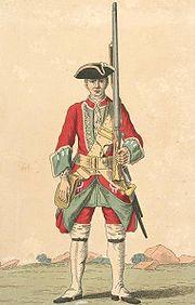 Soldier of 5th regiment 1742
