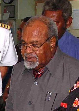 20th-century events - Michael Somare, the first leader of an independent Papua New Guinea.