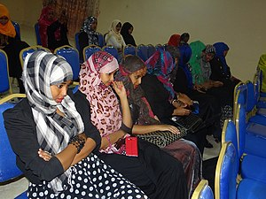Demographics of Somalia - Young Somali women at a community event in Hargeisa.