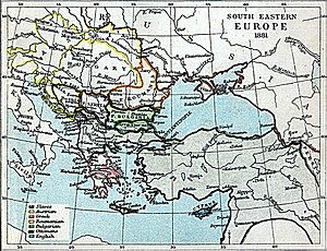 Austro–Serbian Alliance of 1881 - South-eastern Europe in 1881