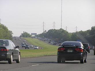 Interstate 295 (Delaware–Pennsylvania) - I-295 northbound in Hamilton Township