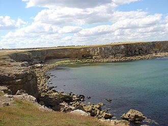 South Shields - Frenchman's Bay: much of the South Shields' coastline is undeveloped, in part as a result of natural sea erosion.)