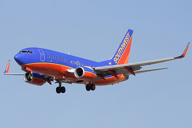 From commons.wikimedia.org: Southwest Airlines Boeing 737-7H4 N231WN {MID-320361}