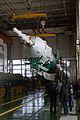 Soyuz TMA-11M rocket in the assembling facility (2).jpg