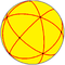 Spherical tetrakis hexahedron