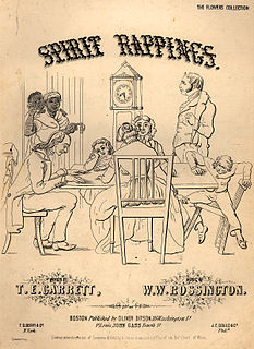 Spiritualism 19th century religious movement believing one can communicate with the spirits of the dead