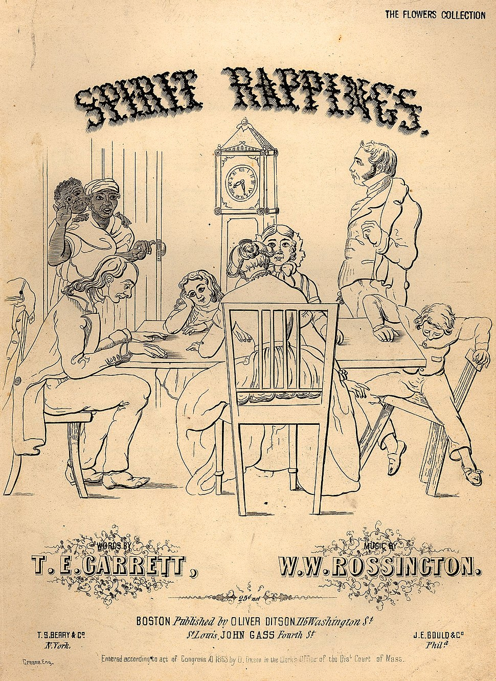 Spirit rappings coverpage to sheet music 1853