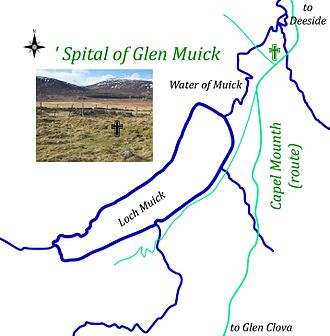 Hospitals in medieval Scotland - The Hospital at the 'Spital of Glen Muick - on the Capel Mounth Path
