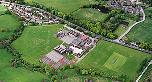 St Mary's Menston Catholic Voluntary Academy - Aerial photograph, 2003, showing the entire school site.