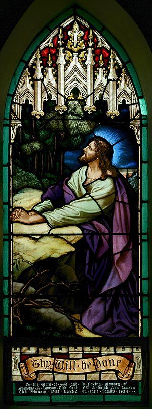 StJohnsAshfield StainedGlass Gethsemane