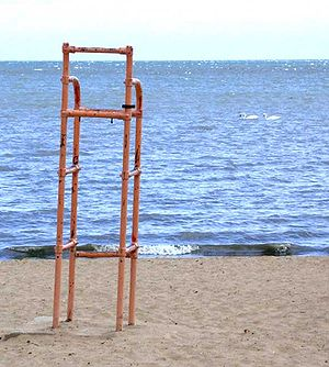 St. Clair Shores, Michigan - A public beach in St. Clair Shores