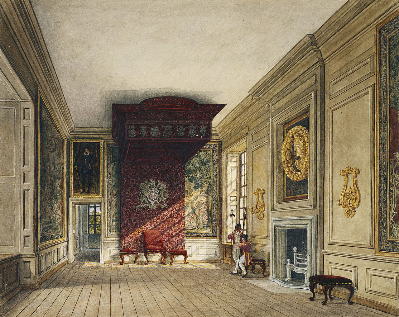 Birth Control >> File:St James's Palace, King's Presence Chamber, by Charles Wild, 1816 - royal coll 922163 ...