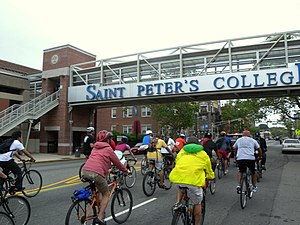 Saint Peter's University - Footbridge over Kennedy Boulevard links the campus as it grows eastward