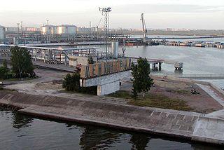 Big port Saint Petersburg