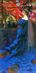 Peacock - Portrait of Zofia Borucińska née Jakimowicz.