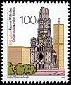 Stamp Germany 1995 MiNr1812 Kaiser-Wilhelm-Gedächtniskirche.jpg