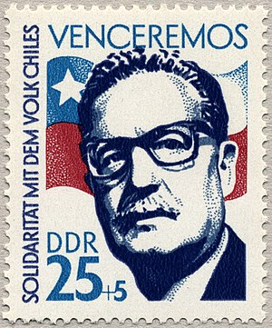Allende stamp from East Germany.