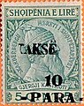 Stamp of Albania - 1914 - Colnect 377530 - Skanderbeg issue overprinted with Turkish Value and Takse.jpeg