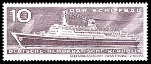 Ivan Franko-class passenger ship - Image: Stamps of Germany (DDR) 1971, Mi Nr 1693