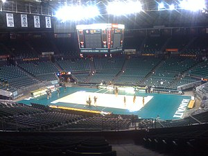 Hawaii Rainbow Wahine volleyball - Image: Stan Sheriff Center Empty