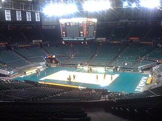 Hawaii Rainbow Wahine volleyball - Image: Stan Sheriff Center Empty