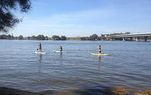 Standup paddlers East Perth1 Moondyne.jpg