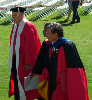 John Etchemendy - Left to right: John L. Hennessy, Susan Rice, and John Etchemendy, June 2010