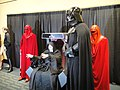 Star Wars Celebration V - 501st room - the Emperor, Royal Guards, and Darth Vader (4940402635).jpg