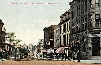 Auburn, New York - State Street in 1910