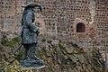 Statue beside Carrickgergus Castle - geograph.org.uk - 221328.jpg