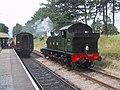 Steam train at Cheltenham Racecourse Station - geograph.org.uk - 1390207.jpg